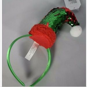 Claire's girls headband holiday elf hat sequins